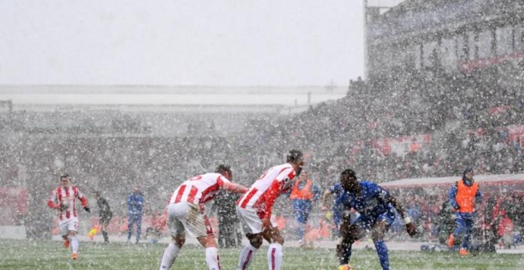 Stoke City en Everton figureren in sneeuwstorm, Crystal Palace maakt sprongetje