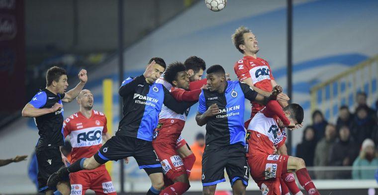 Club Brugge gaat in de fout, international moet forfait geven