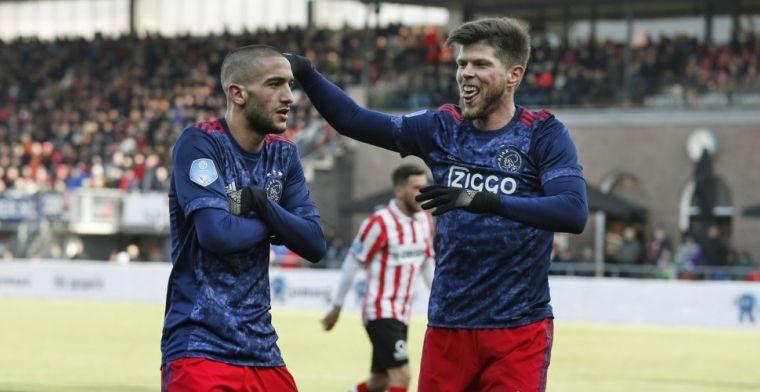 Ajax geeft na rust gas in Rotterdam, maakt er vijf en boekt ruime zege
