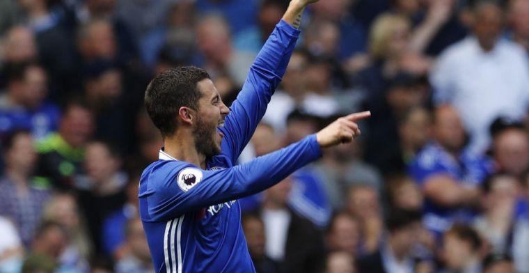 Hazard en Chelsea kloppen Leicester pas na verlengingen en staan in halve finale
