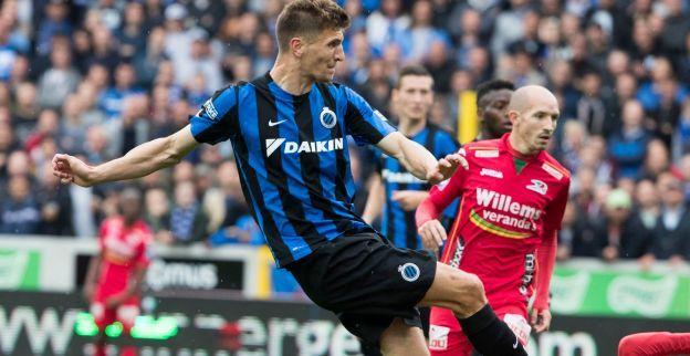 Meunier trekt nog eens het shirt van Club Brugge aan en richt zich tot de fans
