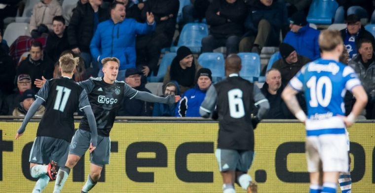 Jong Ajax-spits maakt eerste hattrick: 'Goede kans om kampioen te worden'