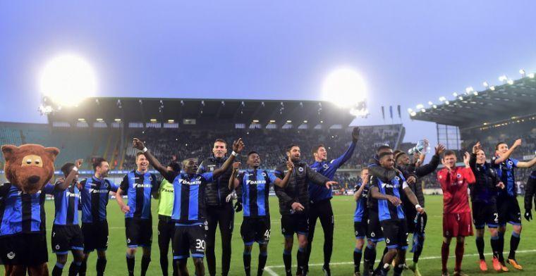 Club Brugge krijgt geweldige steun in Play-Off 1, supporters lopen storm