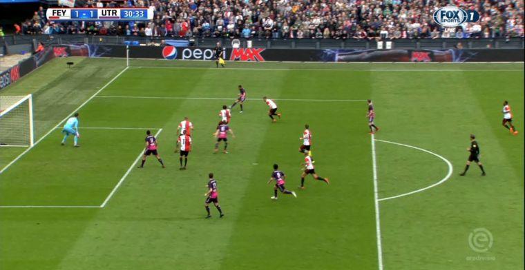 Arbitrale blunder: Utrecht scoort dik in buitenspelpositie tegen Feyenoord