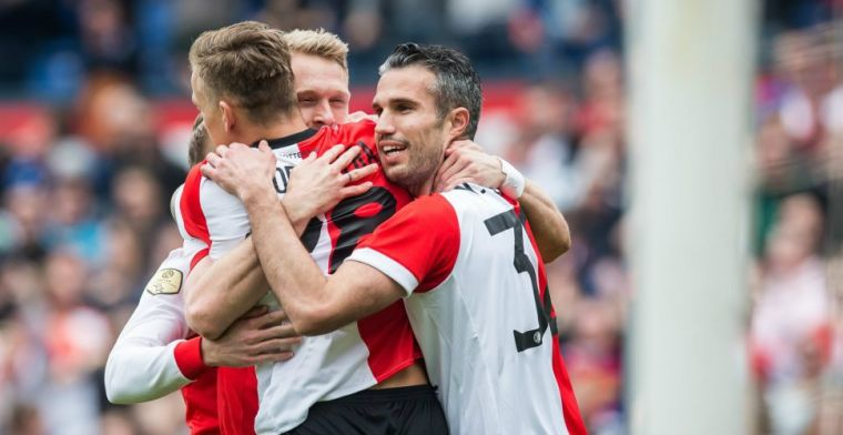 Vijfde zege op rij voor Feyenoord: treffers Jörgensen, Van Persie en Larsson