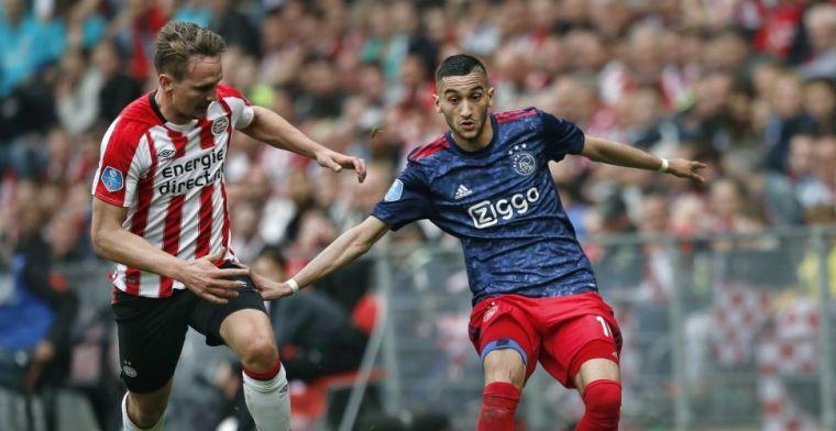 Ziyech inderdaad geduwd door woedende Ajax-fans: Van spelers blijf je af