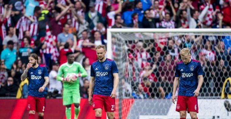 Nieuwe domper voor Ajax: De Jong mist 'topper' tegen AZ na rode kaart