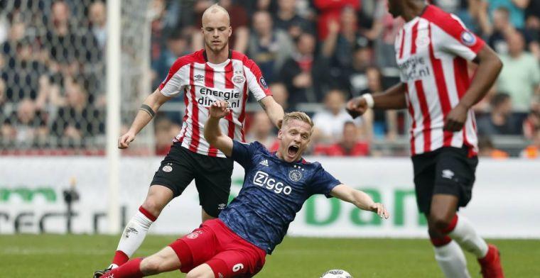 Van de Beek 'vernederd' in PSV-stadion: Was een klap in ons gezicht