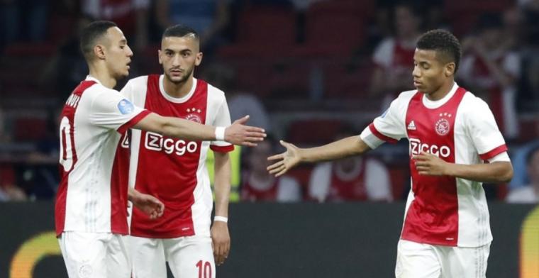 Ajax komt Ziyech-spreekkoren te boven en scoort vier keer in halflege Arena