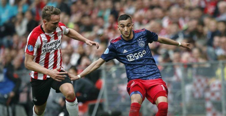 Opvallend: Ajax-fans zijn het niet eens en fluiten Ziyech uit en zingen hem toe