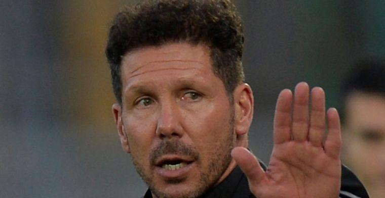 Simeone se quejó amargamente de la actuación arbitral en el choque ante la Real