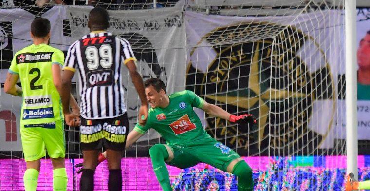 Gent kan tegen Charleroi niet profiteren van puntenverlies van Club en Anderlecht