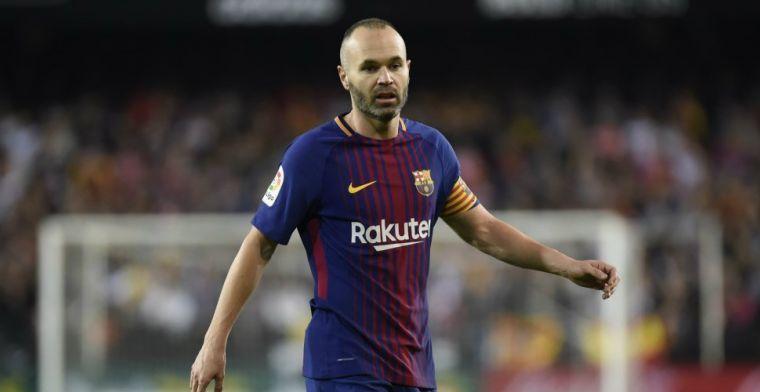 'Drie topclubs willen stokje steken voor Chinese transfer van Iniesta'