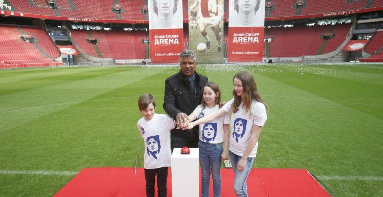 Ajax onthult logo Johan Cruijff Arena: Ik zat echt half te huilen, heel mooi
