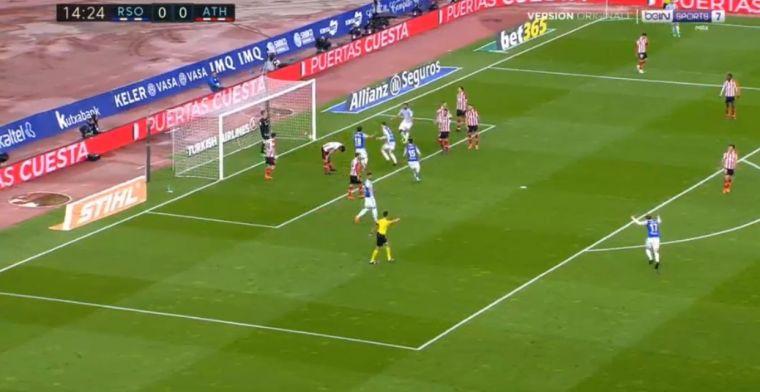Bilbao-verdediger maakt twee identieke eigen doelpunten in Baskische derby