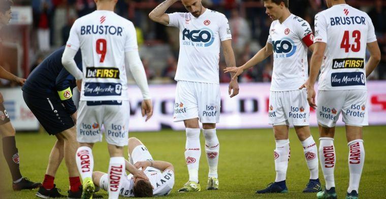 Onfortuinlijke Kortrijk-speler moet onder het mes: voetbaltoekomst heel onzeker