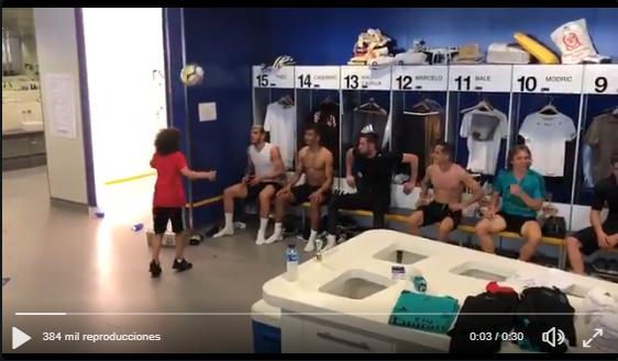 VÍDEO | El hijo de Marcelo consigue que todos los jugadores participen en un reto