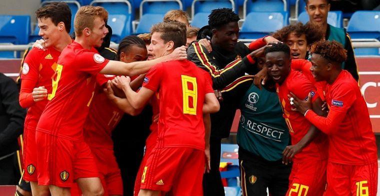 Jonge Belgen uitgeschakeld op het EK na wereldgoal van Italianen