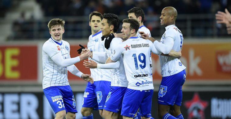 Opmerkelijk: spelers van AA Gent doen geste voor Club Brugge