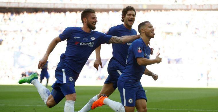 Hazard bezorgt Chelsea FA Cup met winnende goal tegen Manchester United