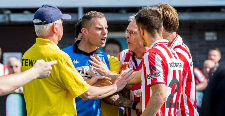 Actie van woedende Sparta-fans 'niet gepast': Aan spelers komen gaat te ver