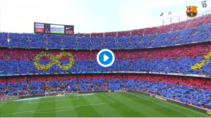 El emocionante aspecto del Camp Nou para la despedida de Andrés Iniesta