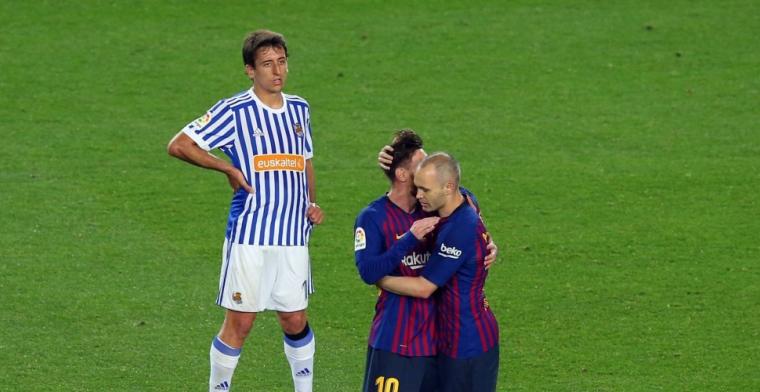 Barcelona sluit seizoen af met overwinning; publiekswissel voor emotionele Iniesta