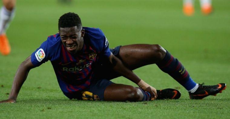 OFICIAL | El Barça confirma que Dembelé solo sufre un esguince de tobillo derecho
