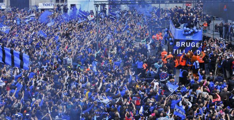 Duizenden Club-supporters zijn al helemaal klaar voor Brugs feestje