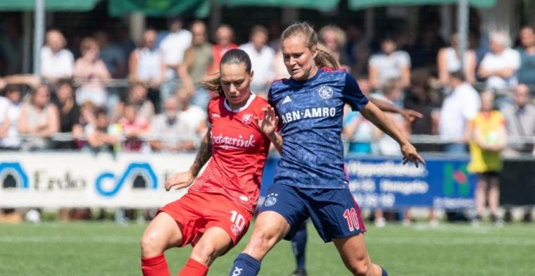 Feest in Amsterdam: Ajax-vrouwen schudden FC Twente van zich af en pakken titel