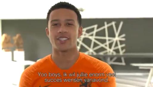 """Succeswensen van Oranje-sterren voor Wijnaldum en Van Dijk: """"Come on!"""""""