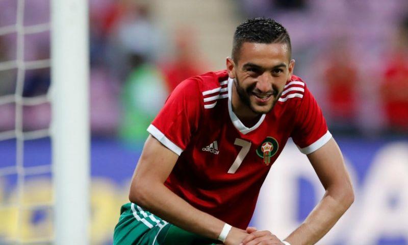 Afbeelding: Ziyech maakt 9e goal namens winnend Marokko, Van Marwijk door oog van de naald