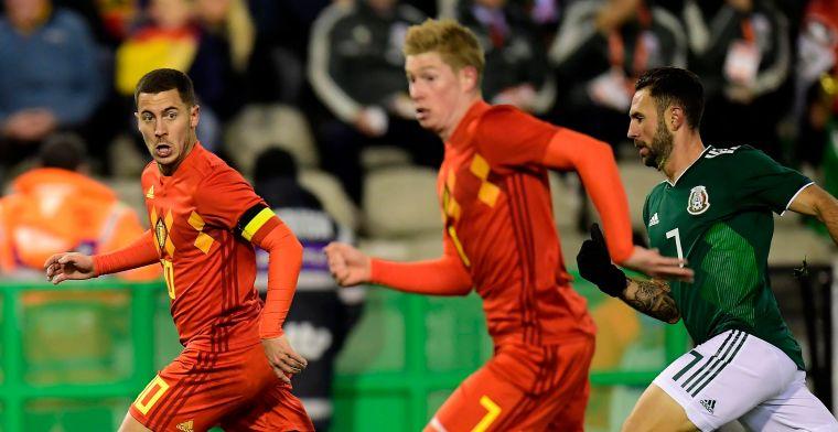 Ook De Bruyne stond te genieten: Ik hou ervan als Hazard zo voetbalt