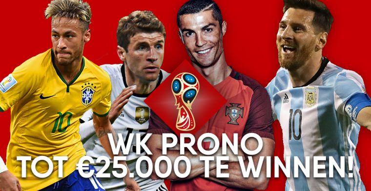 WK-PRONO! Voorspel de wedstrijden en maak met €10 kans tot €25.000 aan prijzen!