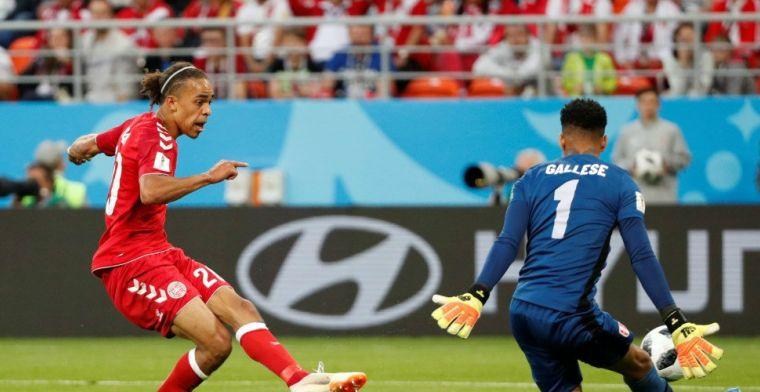 Gemiste penalty komt Peru duur te staan: Poulsen schiet Denemarken naar zege