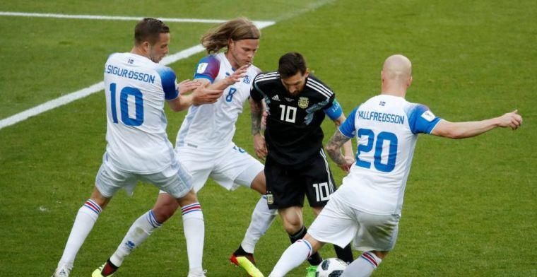 Zwak Argentinië en schlemiel Messi laten punten liggen tegen IJsland