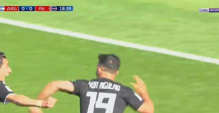 Agüero schiet Argentinië op voorsprong met fantastische pegel