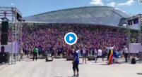 Imagen: 30.000 aficionados islandeses hacen de las 'suyas' en Moscú