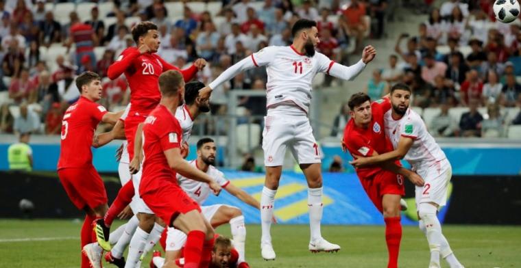 Kane zorgt voor opluchting en kopt Engeland in blessuretijd langs Tunesië