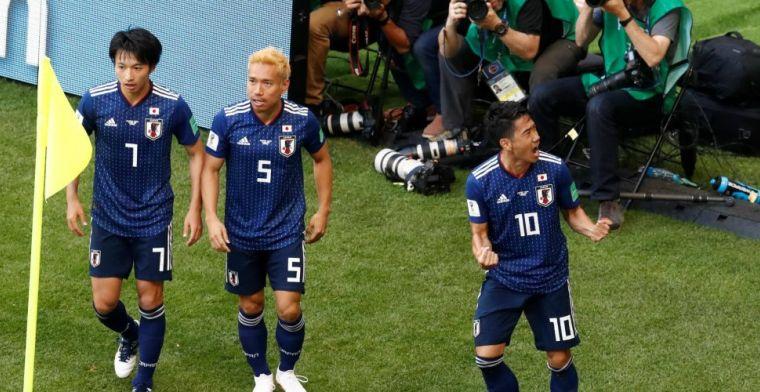 Japan wint verrassend van outsider Colombia na razendsnelle rode kaart en penalty
