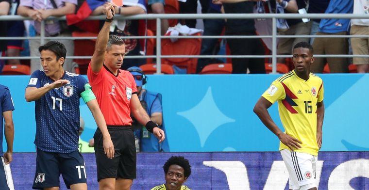 Llega la primera expulsión del Mundial; 'La Roca' Sánchez ve la roja directa