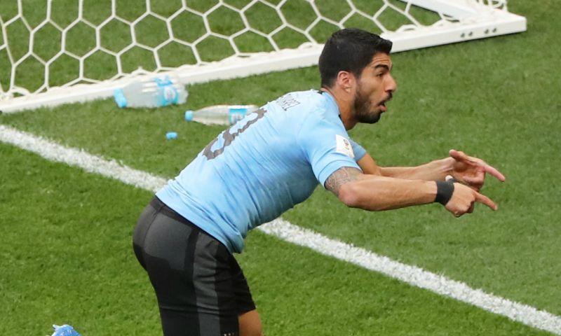 Afbeelding: Uruguay dankt jubilaris Suárez en blunderende Saudische doelman en gaat door