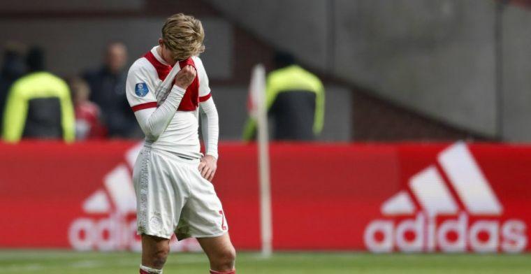 Blessurenieuws bij Ajax: rentree De Jong laat voorlopig op zich wachten