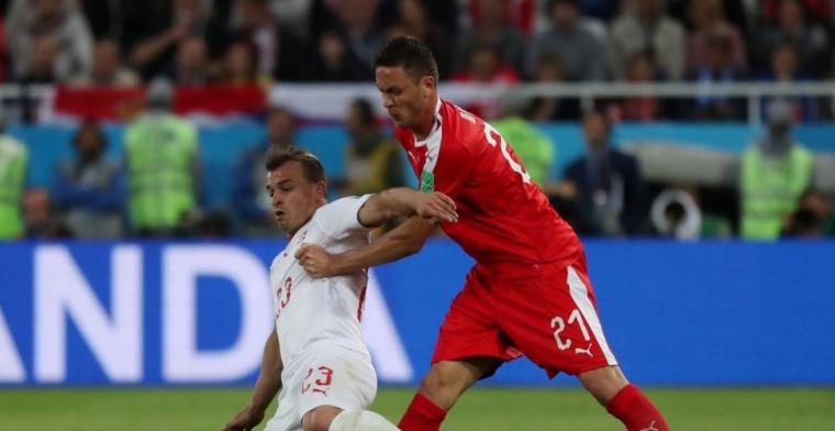 Milinkovic-Savic en Mitrovic gaan in blessuretijd onderuit tegen Zwitserland