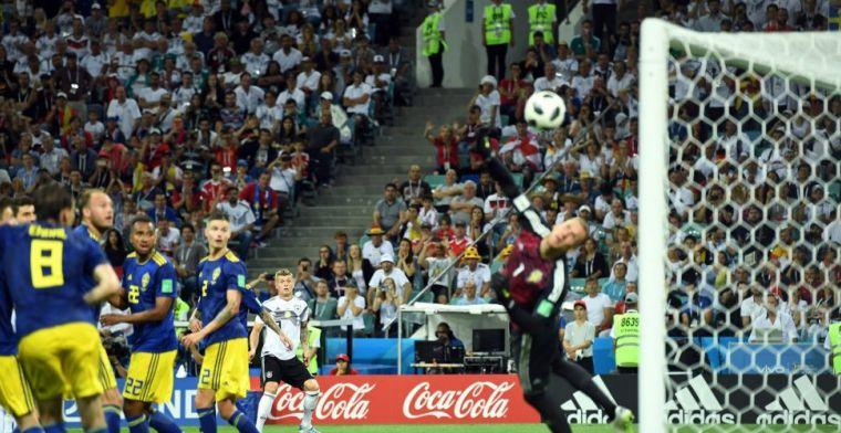 Kroos schiet raak in 95e minuut (!) en laat Duitsland sensationeel ontsnappen