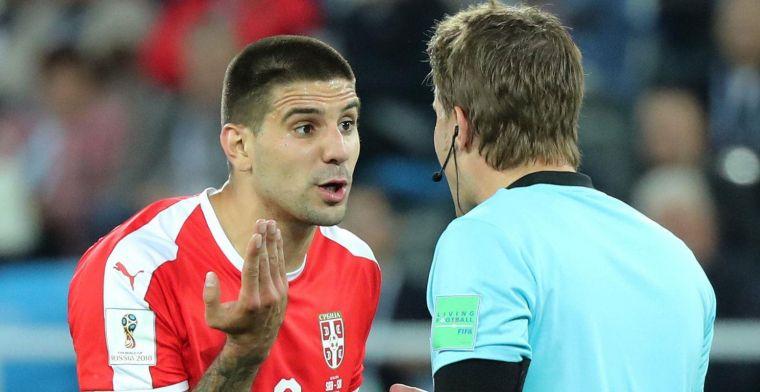 Schandalig! Mitrovic en Servië overduidelijke strafschop ontnomen tegen Zwitsers