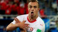 Imagen: Polémico gesto de los goleadores suizos en la victoria contra Serbia