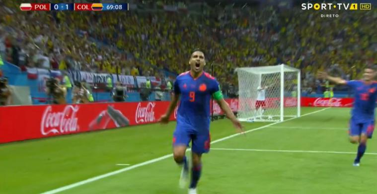 GOAL! Falcao maakt eerste WK-doelpunt in carrière met buitenkantje rechts