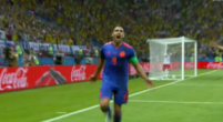 Afbeelding: Falcao maakt eerste WK-goal in carrière met buitenkantje rechts