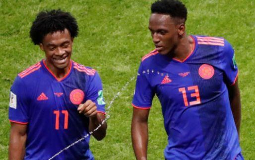 Imagen: Yerry Mina, feliz tras marcar en la victoria de Colombia ante Polonia